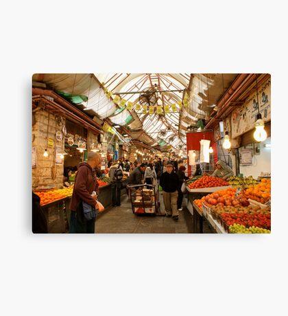The Market Place - Tel Aviv Canvas Print