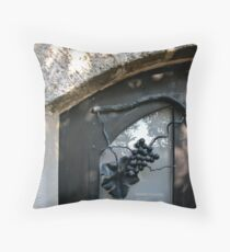 Iron Wrought Grapes - Safed, Israel Throw Pillow