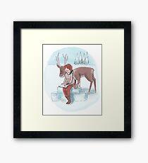Snow Sister Framed Print