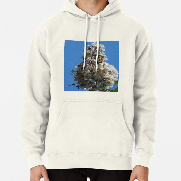 White Crepe Myrtle In Lock Down Pullover Hoodie