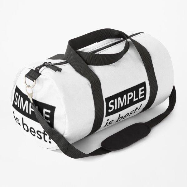 Simple is best Duffle Bag