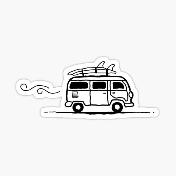 camioneta de surfista Pegatina