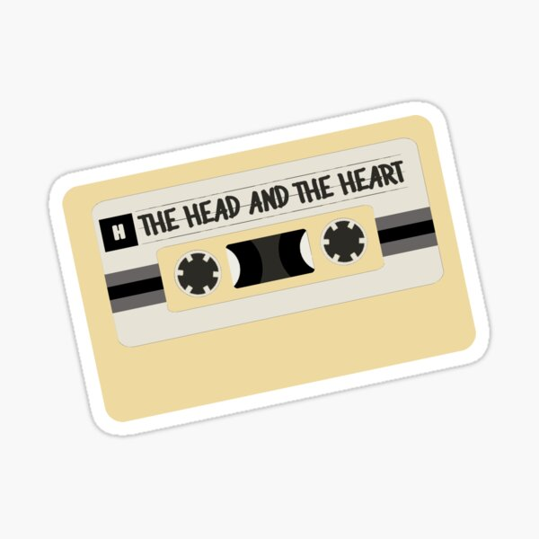 head and the heart tape Sticker