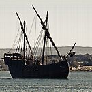 Pirate Ship on the Tamar by Alastair Creswell