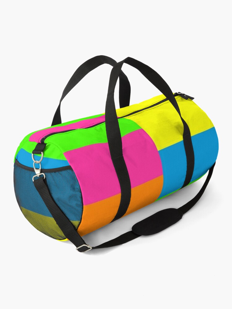 Alternate view of PLAIN SOLID NEON FLUORESCENT RAINBOW STRIPES 5 COLORS  Duffle Bag