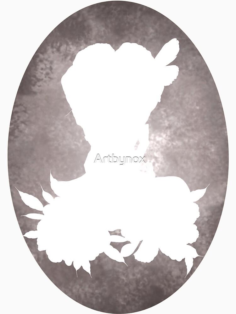 Girl Flowers Silhouette de Artbynox