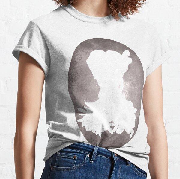 Girl Flowers Silhouette Camiseta clásica