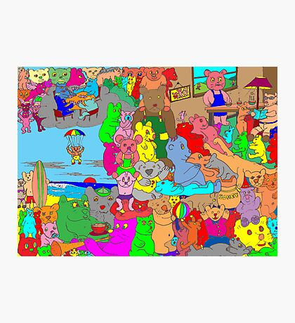 Bears on vacation Photographic Print