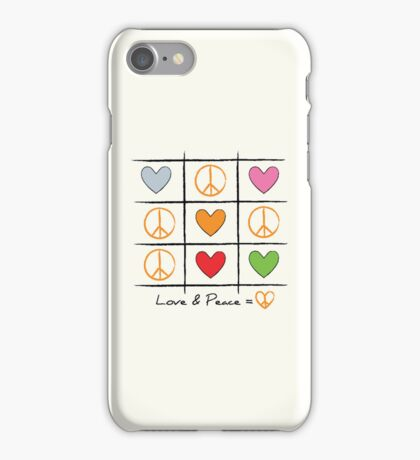 Love & Peace iPhone Case/Skin