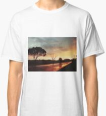 Wet Outback sunset Classic T-Shirt