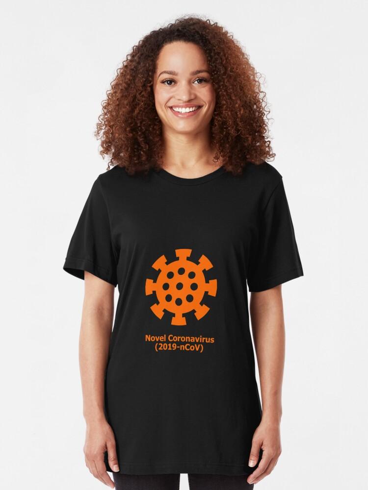 Alternate view of Novel Coronavirus (2019-nCoV)  Slim Fit T-Shirt