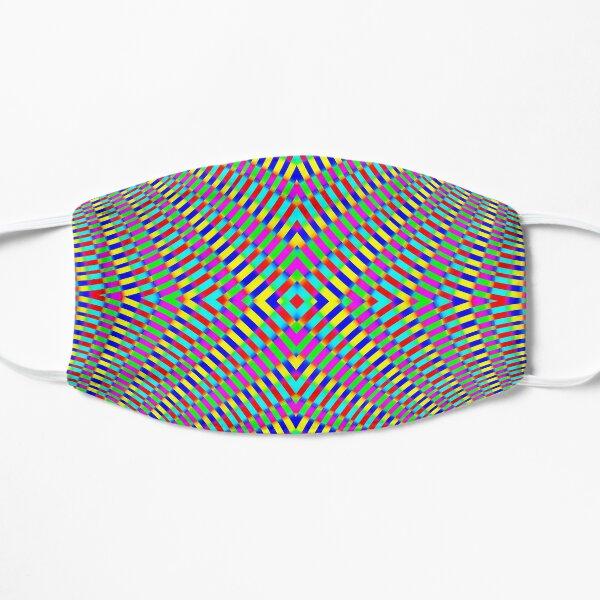 Optical illusion Concentric Circles Geometric Art - концентрические круги Flat Mask