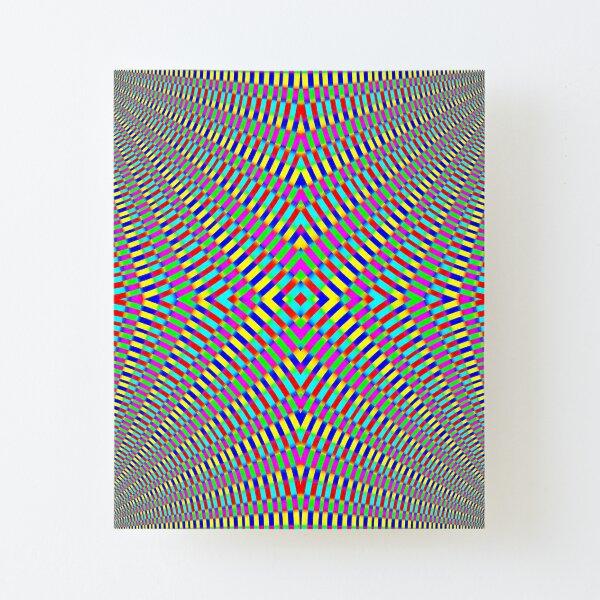 Optical illusion Concentric Circles Geometric Art - концентрические круги Canvas Mounted Print