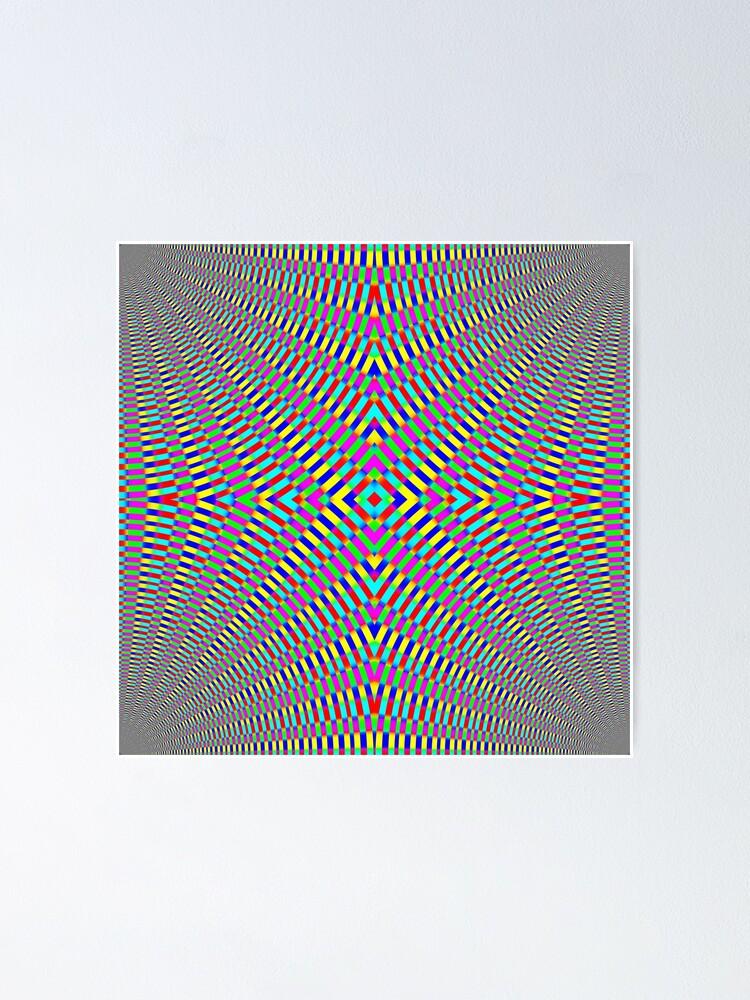 Alternate view of Optical illusion Concentric Circles Geometric Art - концентрические круги Poster