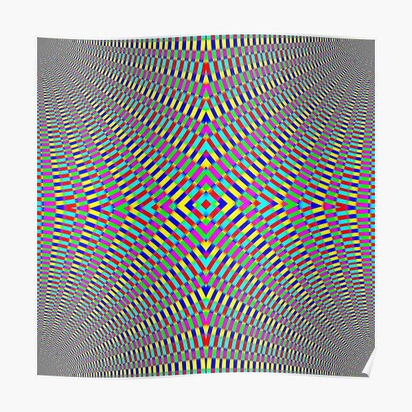 Optical illusion Concentric Circles Geometric Art - концентрические круги Poster