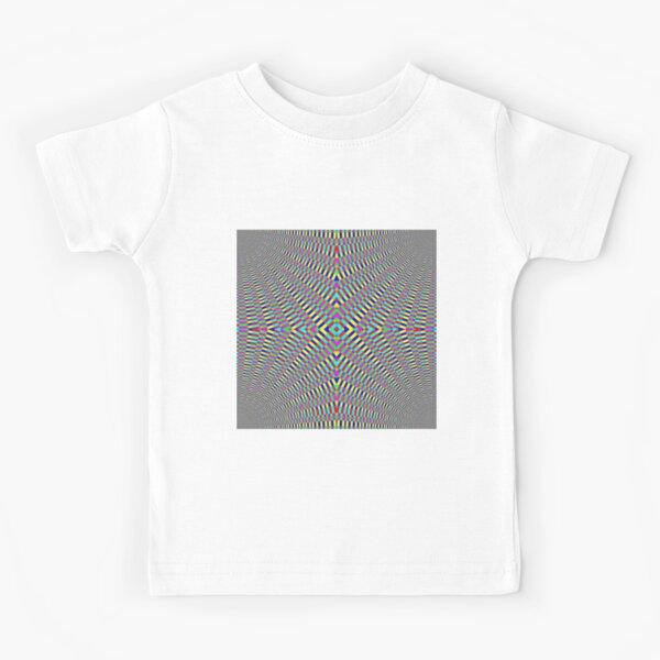 Optical illusion Concentric Circles Geometric Art - концентрические круги Kids T-Shirt