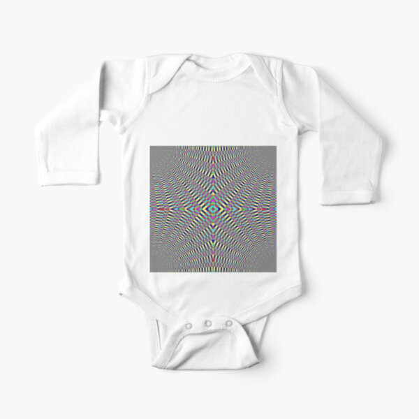 Optical illusion Concentric Circles Geometric Art - концентрические круги Long Sleeve Baby One-Piece