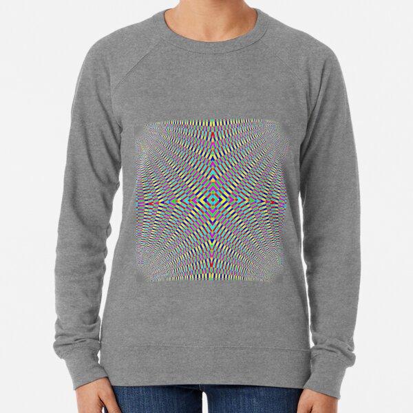 Optical illusion Concentric Circles Geometric Art - концентрические круги Lightweight Sweatshirt