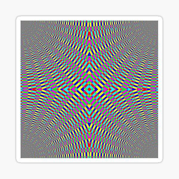 Optical illusion Concentric Circles Geometric Art - концентрические круги Sticker
