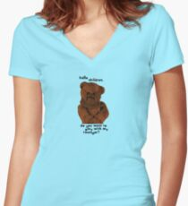 Rainbow - Do you want to play with my twanger? Women's Fitted V-Neck T-Shirt
