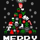 Ornament Merry Christmas Tree by EthosWear