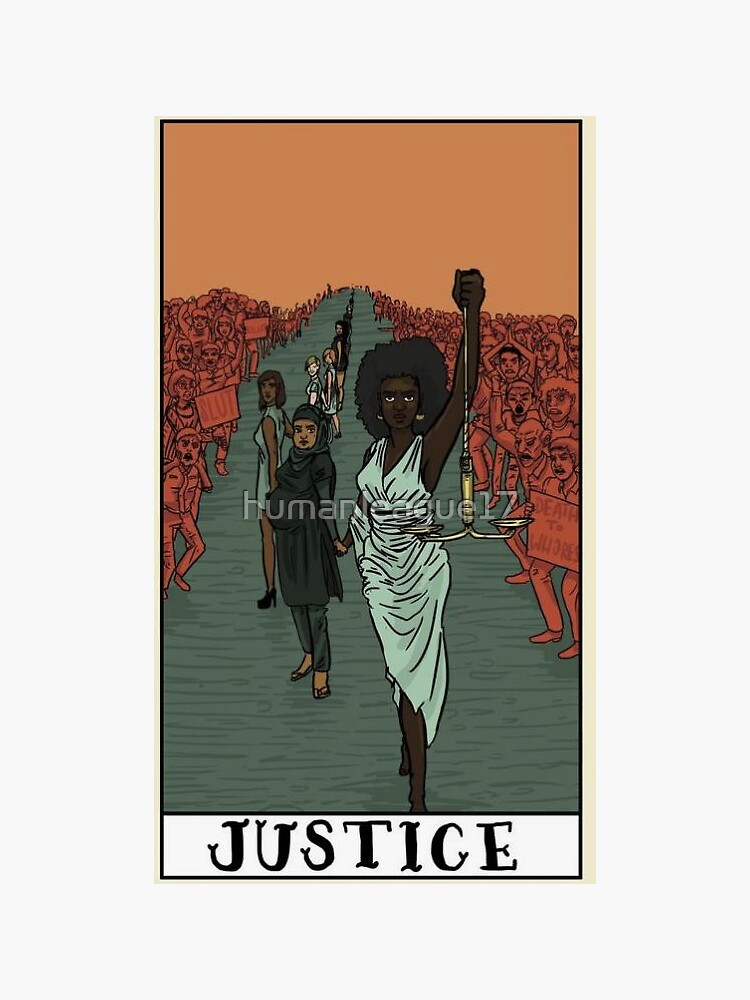 Justice Tarot Card by humanleague17