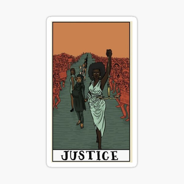 Justice Tarot Card Sticker