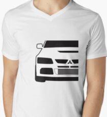 Mitsubishi Lancer Evo - Close Up Zoom Corner Sticker / Tee Design Men's V-Neck T-Shirt
