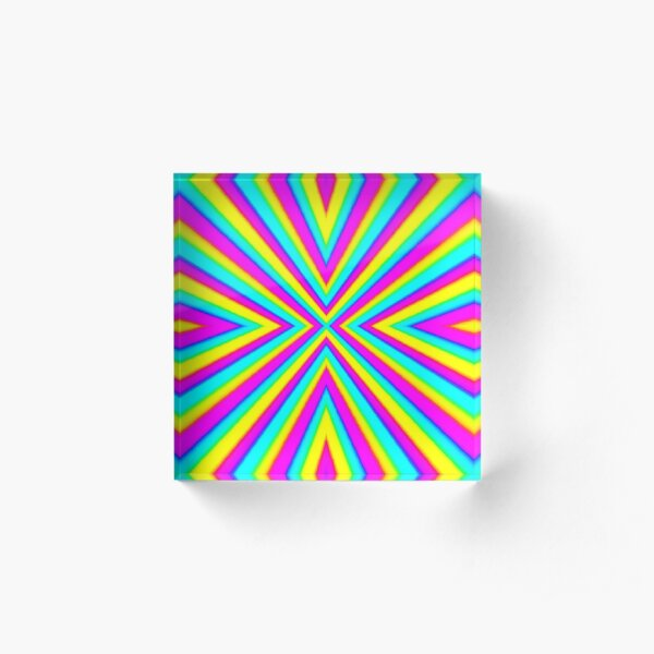 Optical illusion Concentric Circles Geometric Art - концентрические круги Acrylic Block