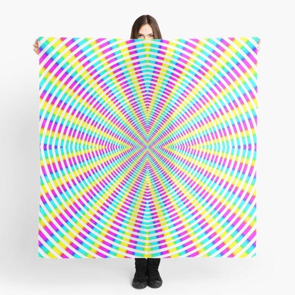 Optical illusion Concentric Circles Geometric Art - концентрические круги Scarf