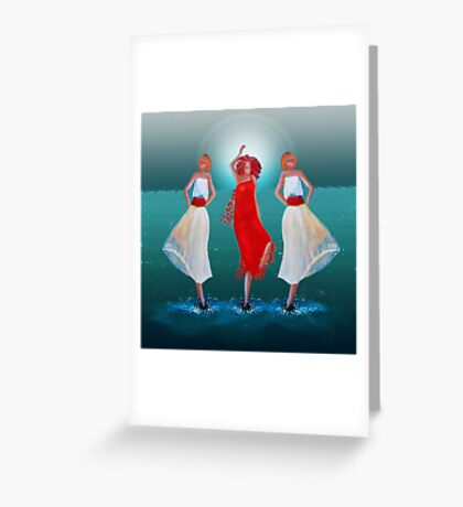 Flirting with the sun  Greeting Card