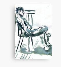 sunny chair  Canvas Print