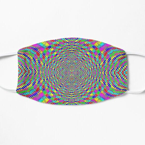 Optical illusion, Concentric Circles, Geometric Art - концентрические круги Flat Mask