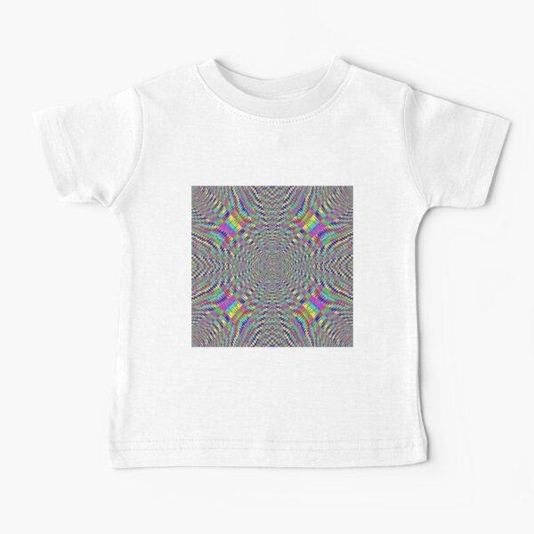 Optical illusion, Concentric Circles, Geometric Art - концентрические круги Baby T-Shirt