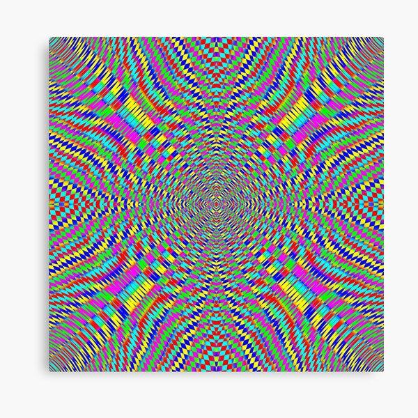 Optical illusion, Concentric Circles, Geometric Art - концентрические круги Canvas Print