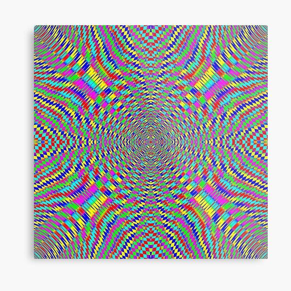 Optical illusion, Concentric Circles, Geometric Art - концентрические круги Metal Print