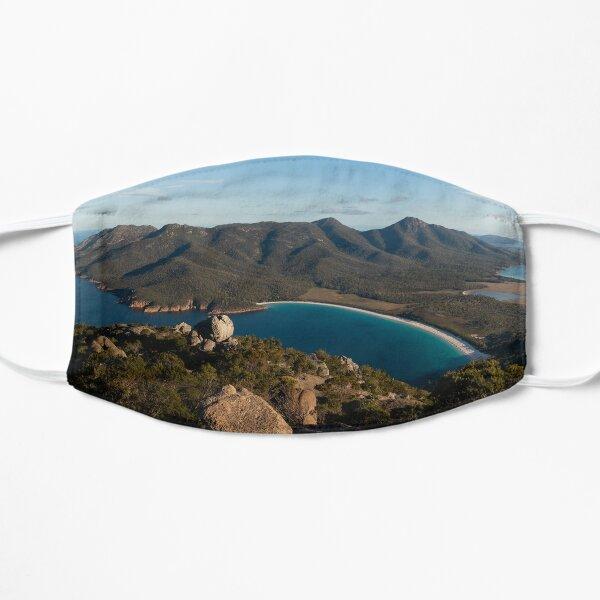 Sunset Panorama Wineglass Bay Flat Mask