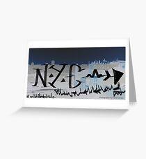 NYC midnight graffiti Greeting Card