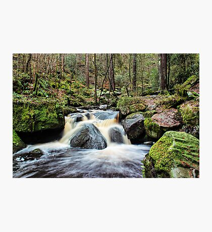 Wyming Brook Cascades Photographic Print