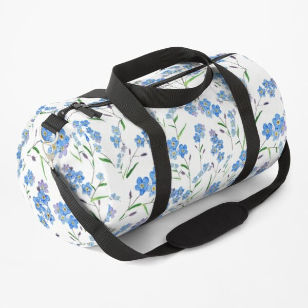 blue forget me not pattern  Duffle Bag