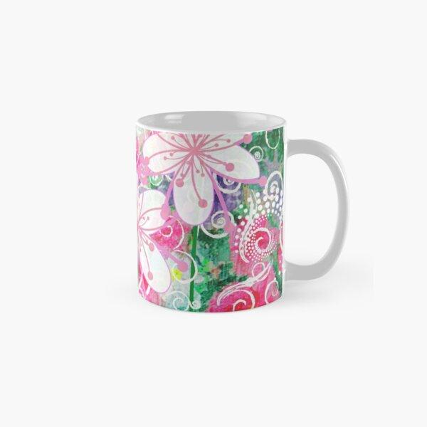 Joyful White Flowers by Jan Marvin Classic Mug
