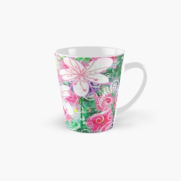 Joyful White Flowers by Jan Marvin Tall Mug