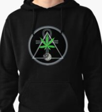 Triangle , ankh and pot leaf from Valxart.com  Pullover Hoodie
