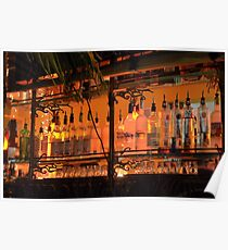 The Back Side of the Bar... Street View on Collins Ave in Miami Beach Poster