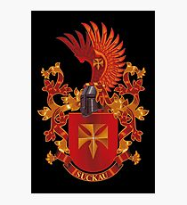 Suckau Coat of Arms Heraldry Germany Photographic Print