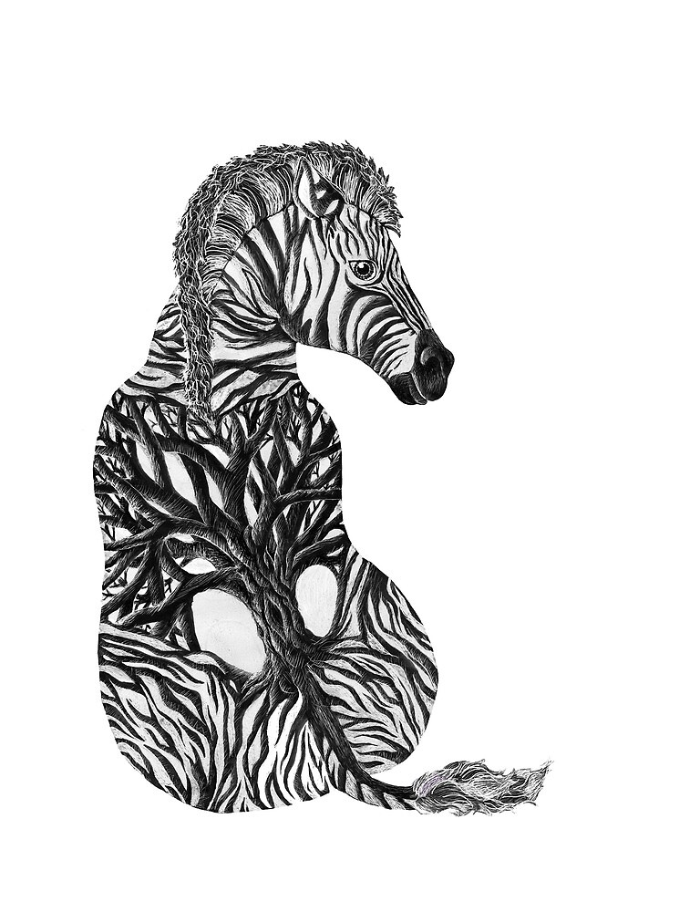 Zebra Tree by brookeduckart