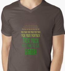 Tick Tock, Tick Tock It's Time To Go Green Mens V-Neck T-Shirt