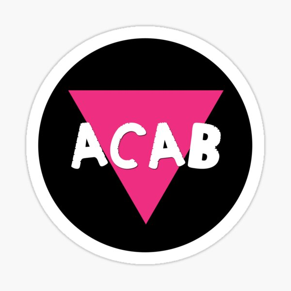 queers hate cops | acab  Sticker