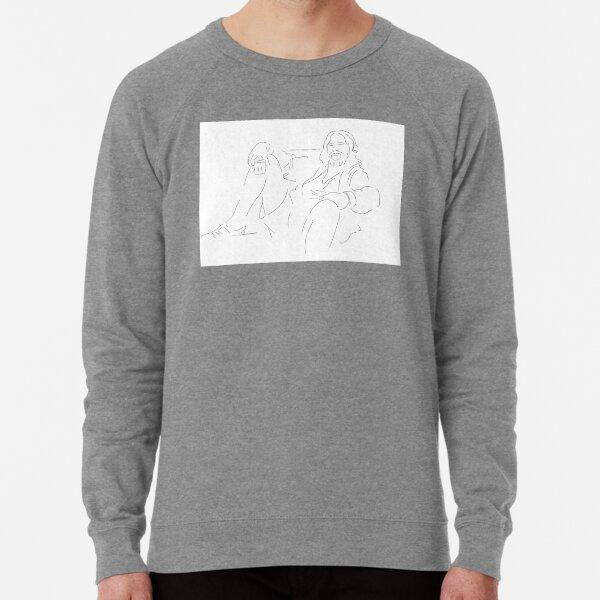 The Dude Inspired Print Lightweight Sweatshirt