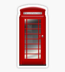 London Red Phone Booth Box  Sticker